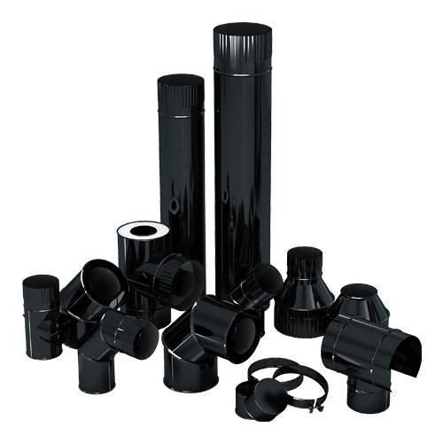 Модульные эмалированные дымоходы «Agni» для отопительных котлов.